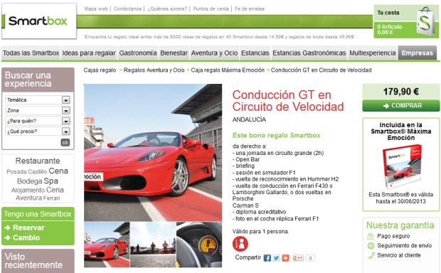 Conducir un Ferrari en Smartbox
