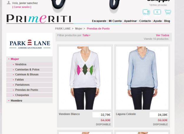 Regalar ropa outlet en Primeriti