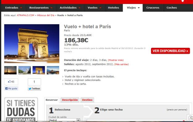 Regalar viaje romántico a París con Atrapalo