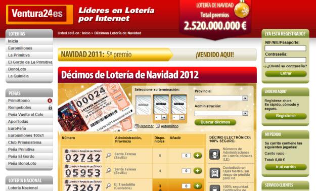 Regalar décimos para lotería de Navidad 2012