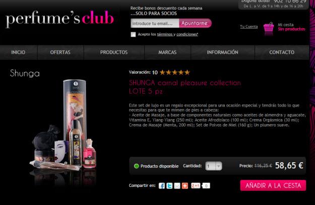 Regalar perfumería erótica en PerfumesClub