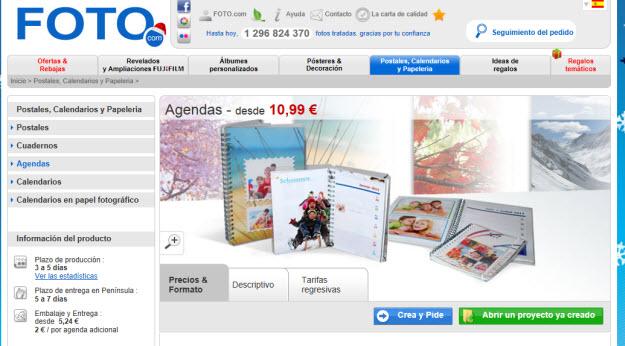 Regalar agenda 2013 con Foto.com