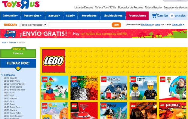 Regalar juguetes de Lego en Toys R Us