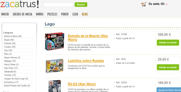Regalar juguetes de Lego
