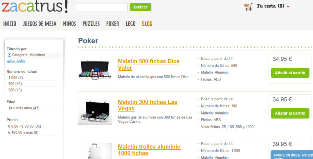 Regalar maletines de poker