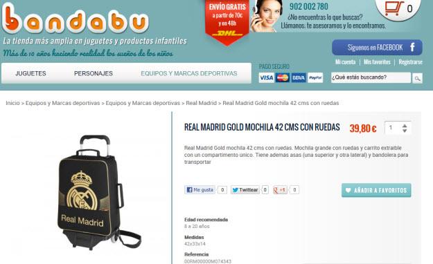Comprar regalos del Real Madrid en Bandabu