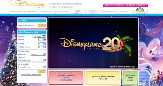 Regalar viaje Disneyland París para navidad