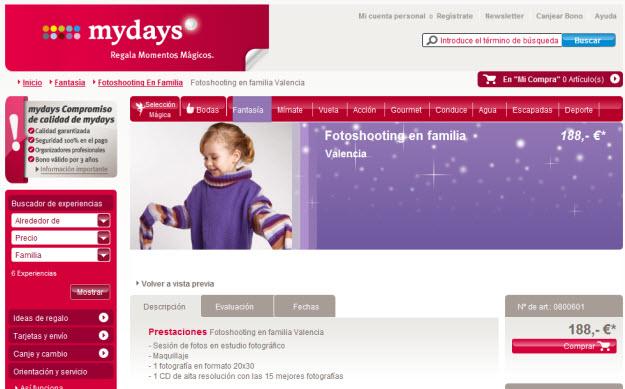 Experiencias para niños en Mydays