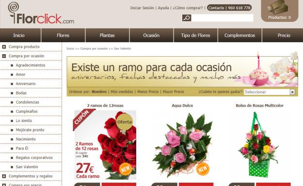 Regalar flores para San Valentín en Florclick