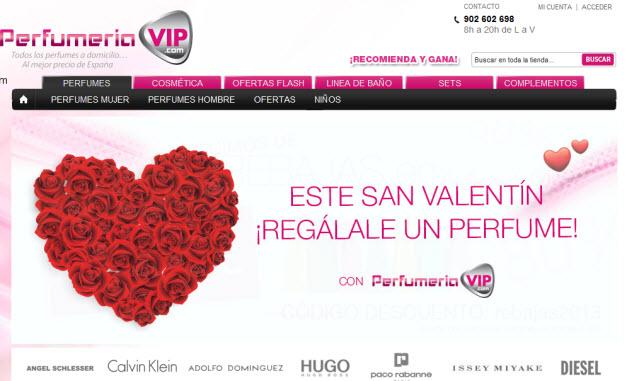Regalar perfumes para San Valentín en Perfumería VIP