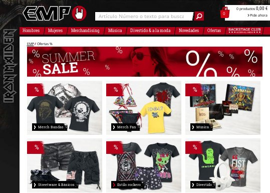 EMP online camisetas rock