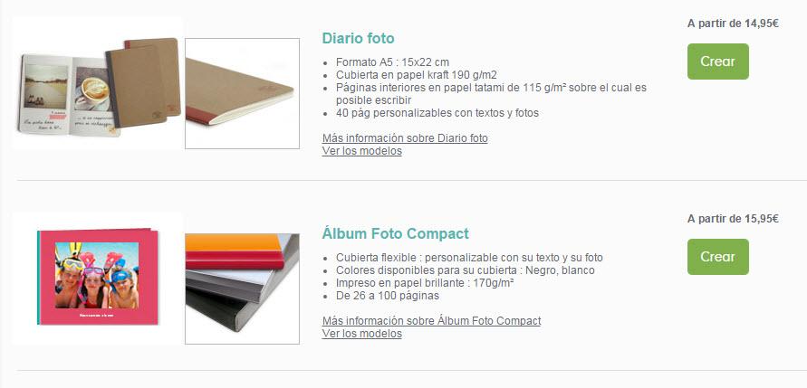 photobox precios albumes