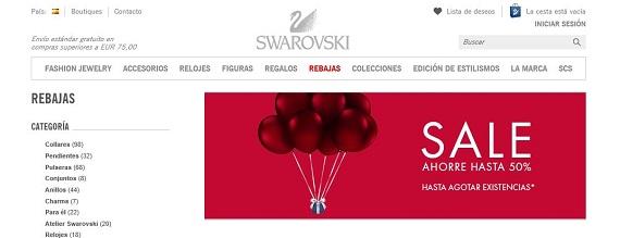 Swarovski rebajas 2016