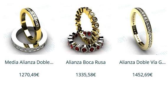 anillos de pedida precios