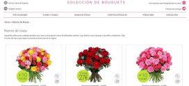 Flores San Valentín 2017 baratas y online: rosas con bombones