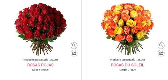 flores San valentín baratas