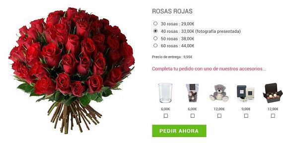 flores san Valentín rosas