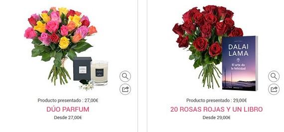 flores san valentín a domicilio por Internet