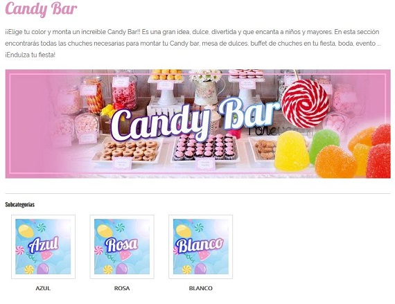 chuches para bodas candy bar