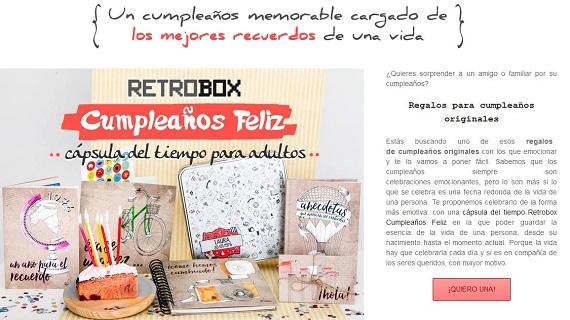 myretrobox cápsulas del tiempo