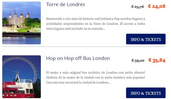 ticketbar londres