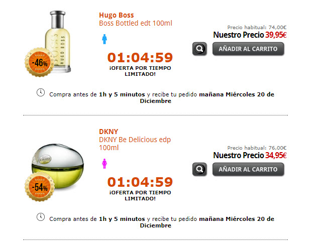 Perfumes baratos Navidad