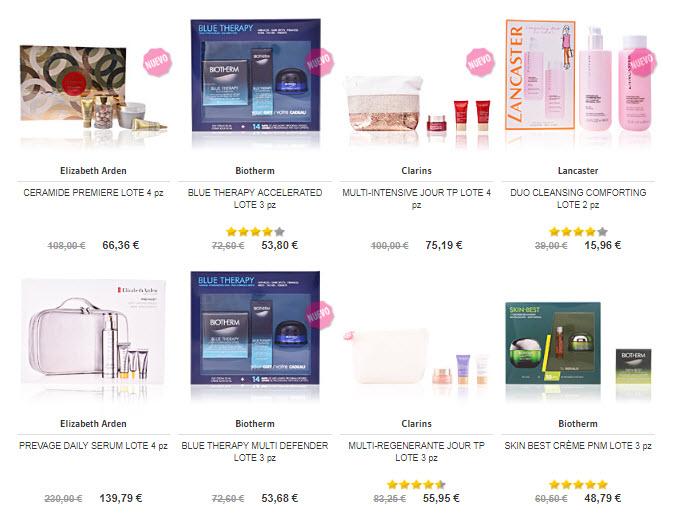 sets de cosmeticos Navidad